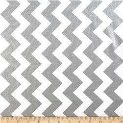 Riley Blake Hollywood Sparkle Medium Chevron Grey Fabric