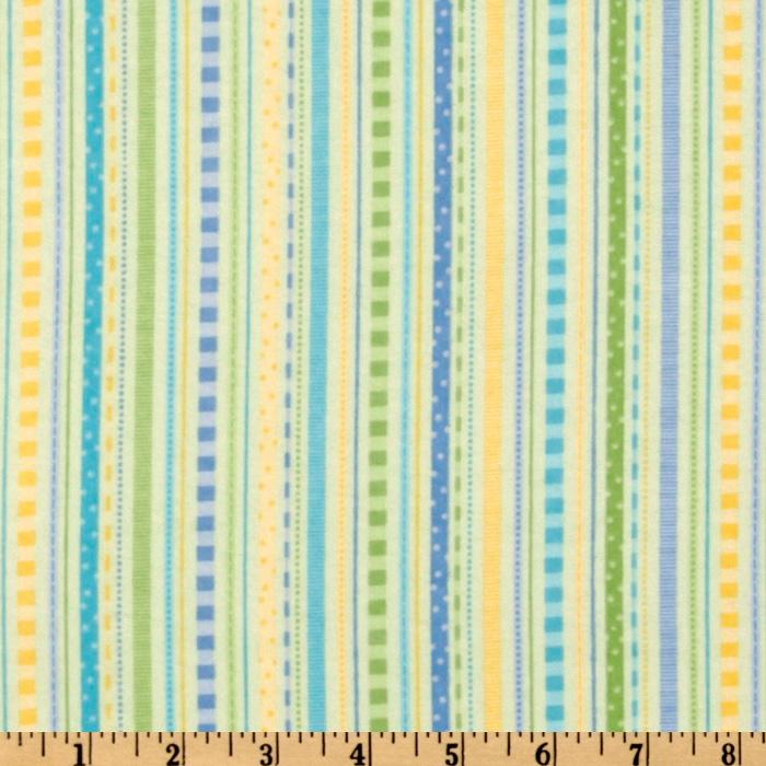 Bitty Baby Flannel Stripes Green