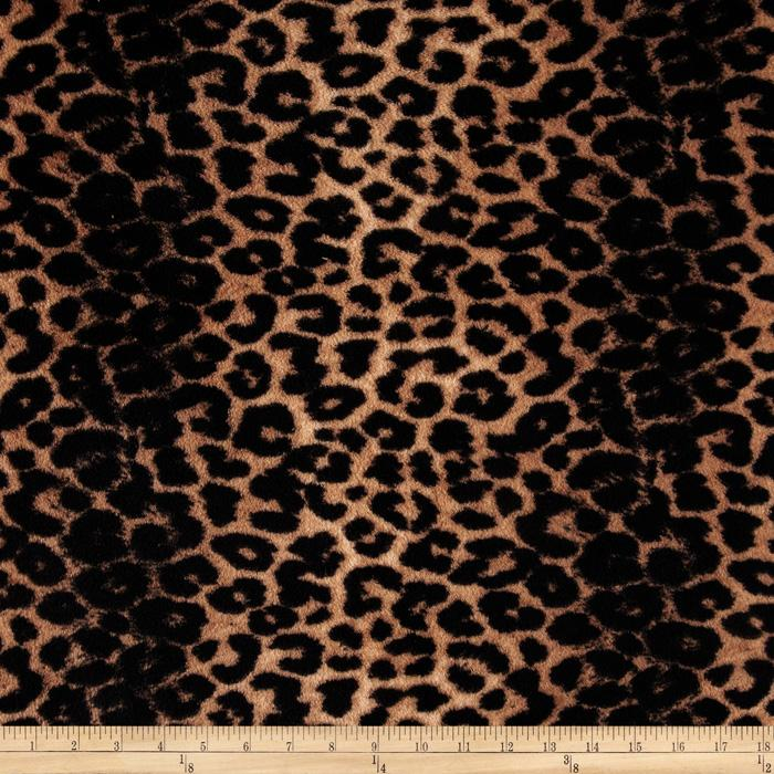 Plush Coral Fleece Leopard Black/Tan