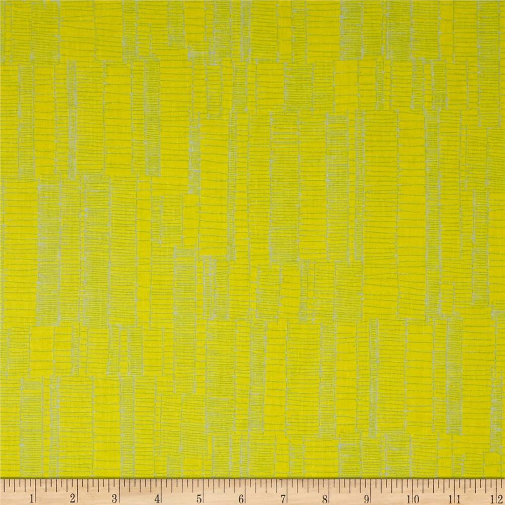 Kaufman Doe Jagged Stripe Leaf