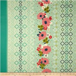 Cotton & Steel Mustang Rose Stripe Teal