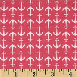 Riley Blake Anchor Hot Pink Fabric