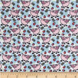 Newcastle Flannel Little Piggy Blue