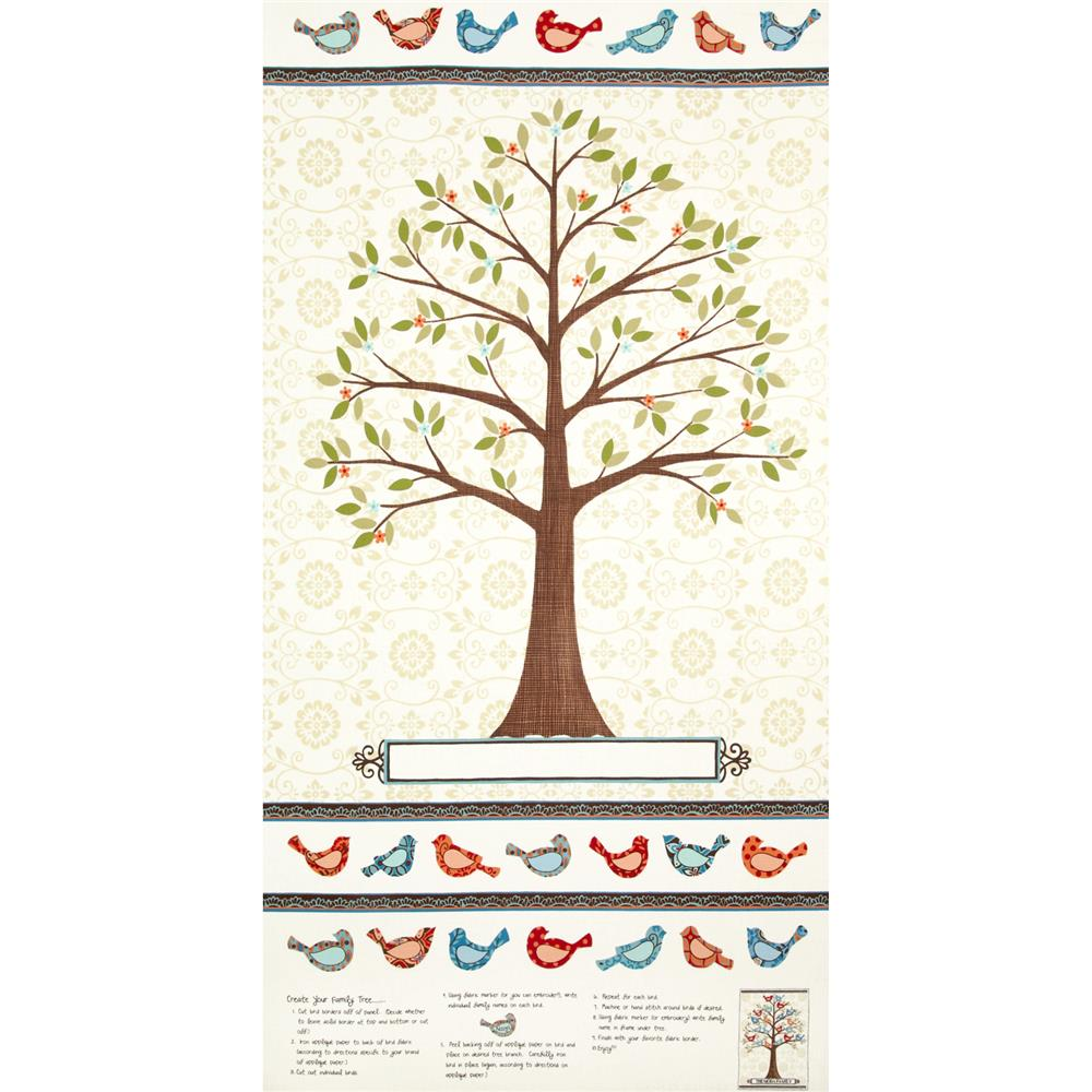 Moda Family Tree Tree Panel Cream