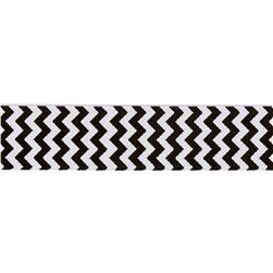 Riley Blake 7/8'' Grosgrain Ribbon Chevron Black
