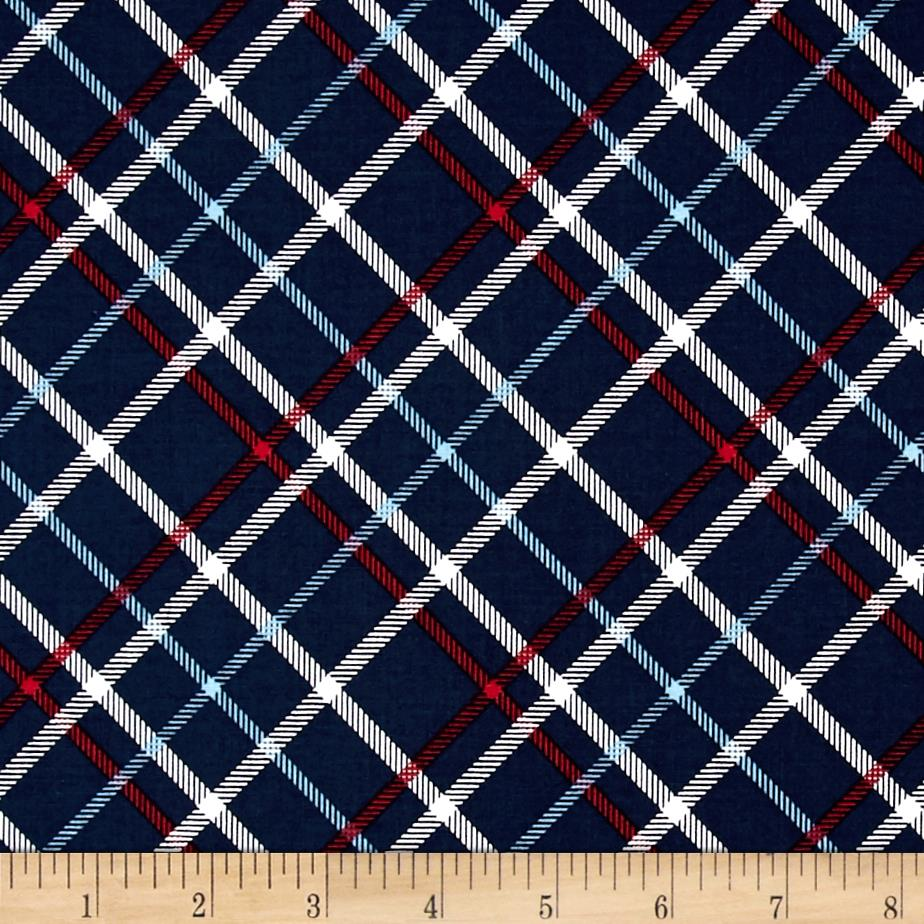 Riley Blake Play Ball 2 Plaid Navy