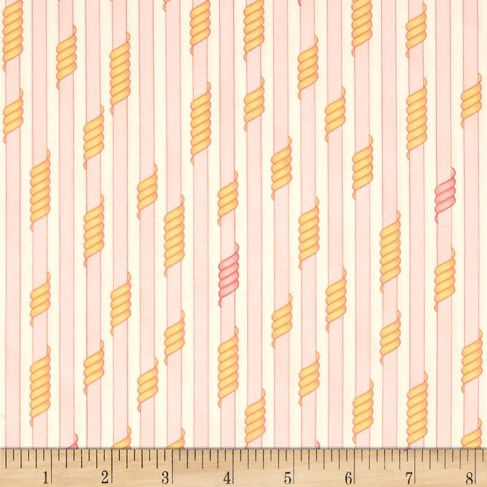 Kaufman Drawn Thin Stripe Sorbet