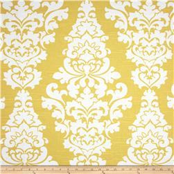 Premier Prints Berlin Slub Saffron Yellow Fabric