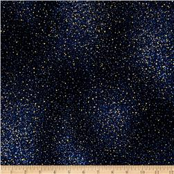 Star Gazing Metallic Flecks Navy/Gold