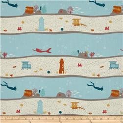 Birch Organic Beyond The Sea Dive Stripe Sky/Cream