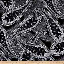 Liverpool Double Knit Paisley Black/White/Gray