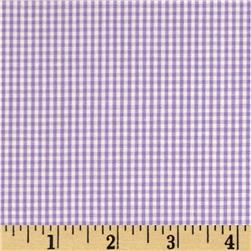 Cotton Gingham Check 1/16'' Purple/White