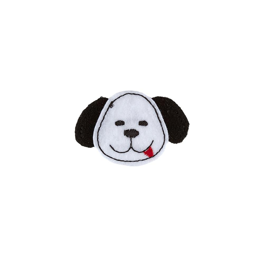 Dog Face Applique White