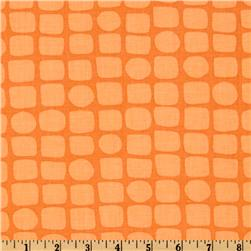 Michael Miller Backyard Baby Snake Skin Orange Fabric