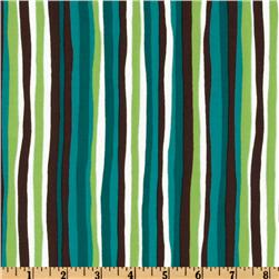 Groove On Wavy Stripes Teal/Brown/Green