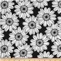 Jet Setter Large Flower Black
