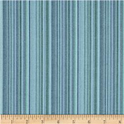 Kaufman Classic Threads Small Stripe Lagoon