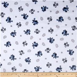 Minky Cuddle Prints Sky Captain Navy