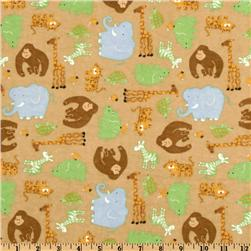 Flannel Jungle Fever Animals Tea