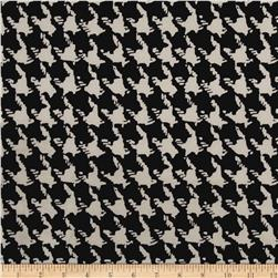 Techno Scuba Knit Abstract Houndstooth Black/Cream