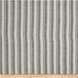 Fabricut Walker Stripe Linen Blend Black
