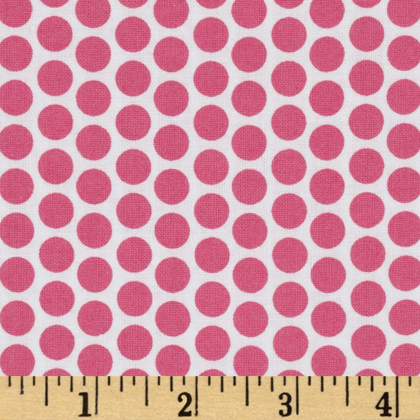 Riley Blake Honeycomb Reversed Dot White/Hot Pink Fabric