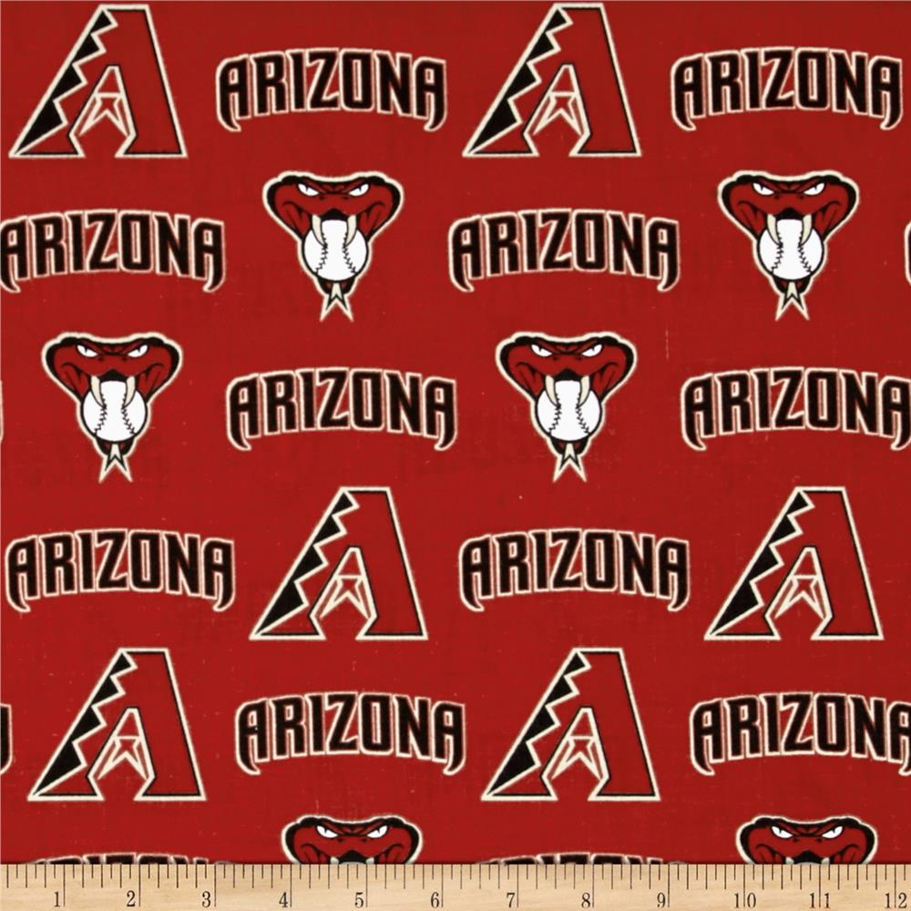 Arizona Diamondbacks Cotton Broadcloth Crimson