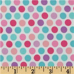 Riley Blake Lovey Dovey Flannel Dots Purple