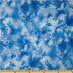 Misty Light Floral Tonal Blue