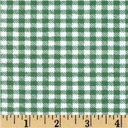 Aunt Polly's Flannel Gingham Sage/White