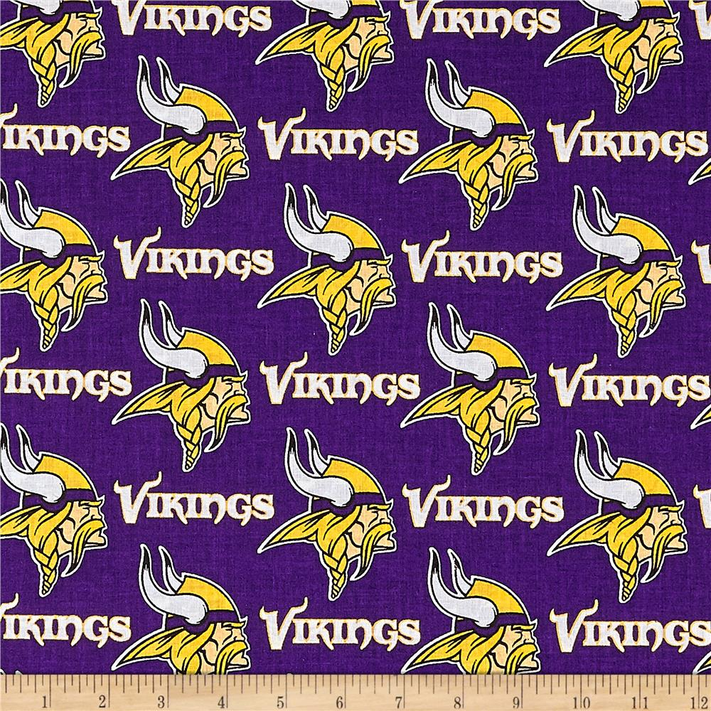 NFL Cotton Broadcloth Minnesota Vikings