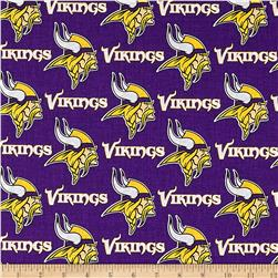 NFL Cotton Broadcloth Minnesota Vikings Purple/Yellow