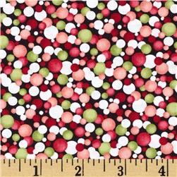Poppy Panache Watercolor Circles Red/Green