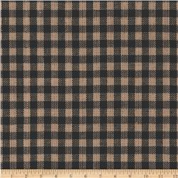 Homespun Basics Plaid Tan/Black Fabric