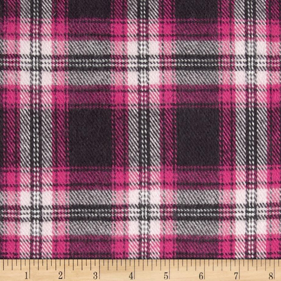 6 oz. Flannel Large Plaid Fuchsia/Black