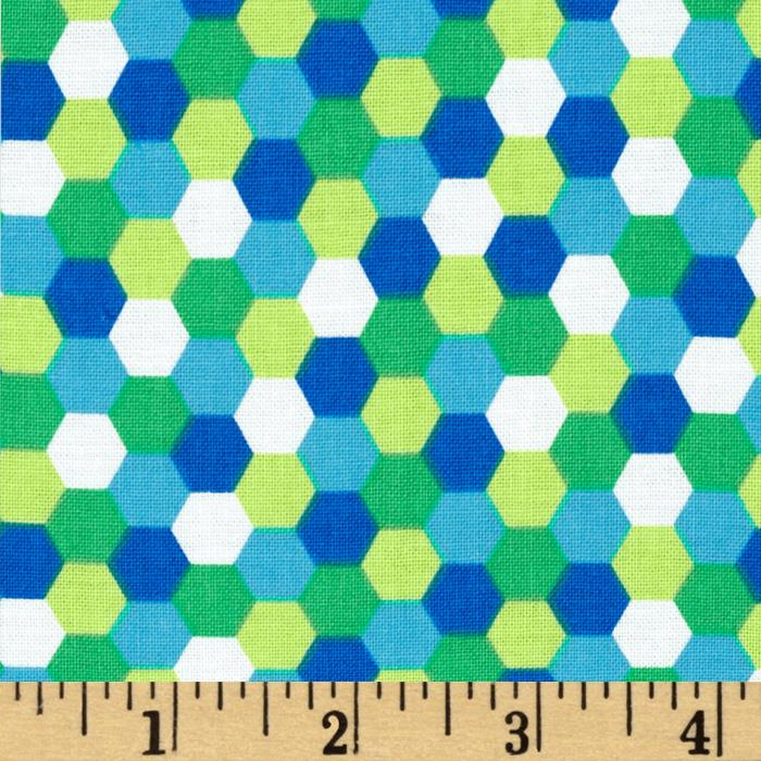 Dots Right Honeycomb Blue