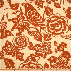 Thomas Paul Aviary Tangerine Fabric