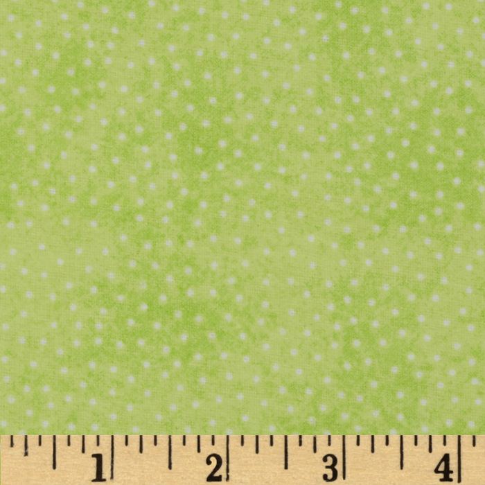 Comfy Flannel Micro Dot Lime Green Fabric by A. E. Nathan in USA