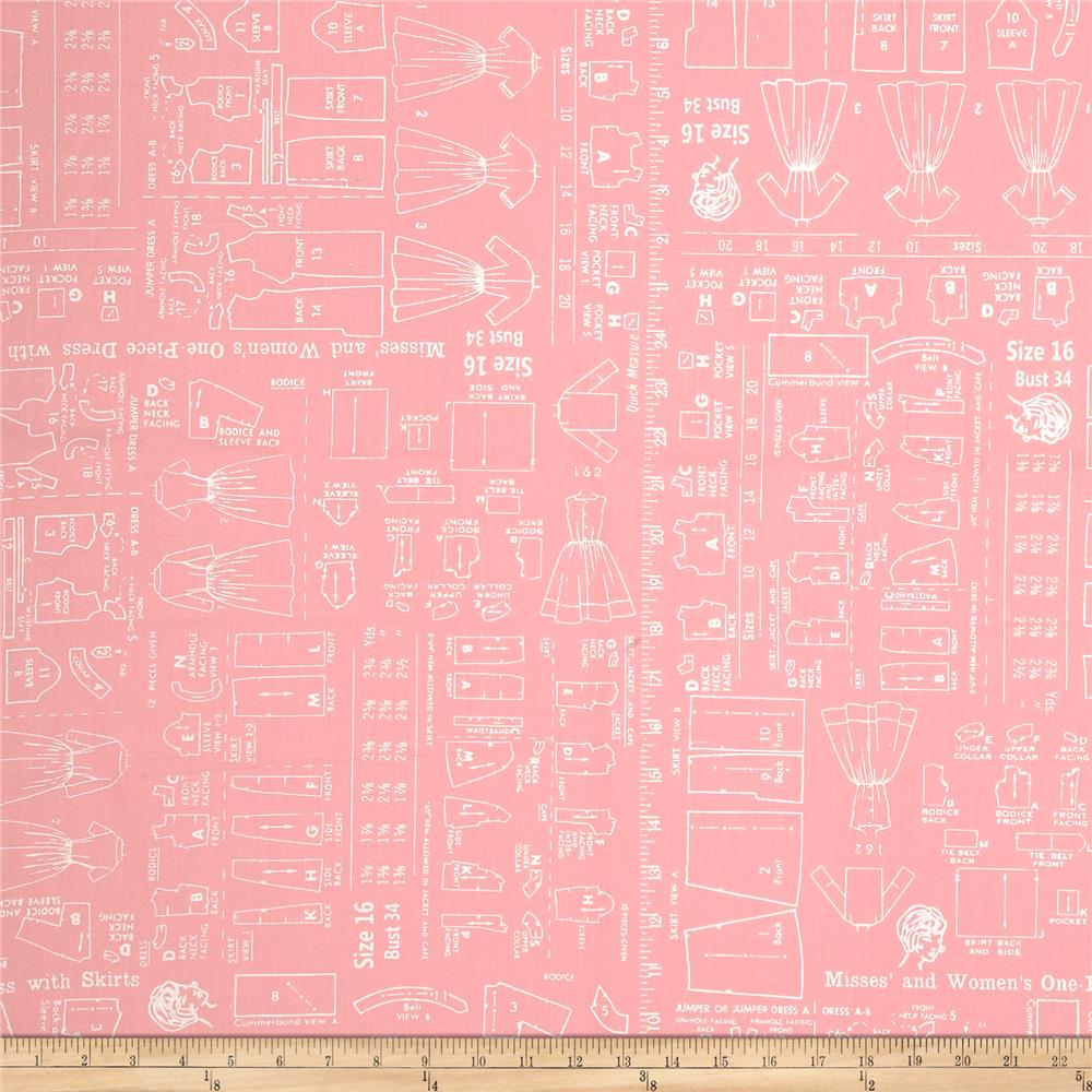 """Riley Blake Bee Backings and Borders 108"""" Quilt Back Sewing Pink"""