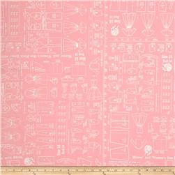 "Riley Blake Bee Backings and Borders 108"" Quilt Back Sewing Pink"