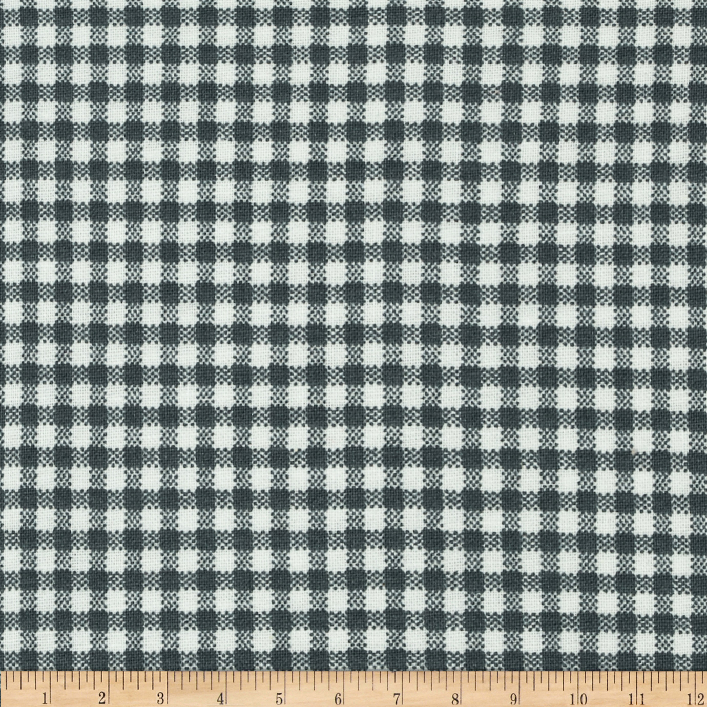 Basic Training Small Gingham Grey/White Fabric by Santee in USA