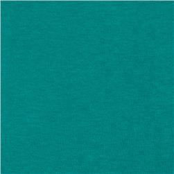 Basic Cotton Baby Rib Knit Solid Deep Turquoise Green