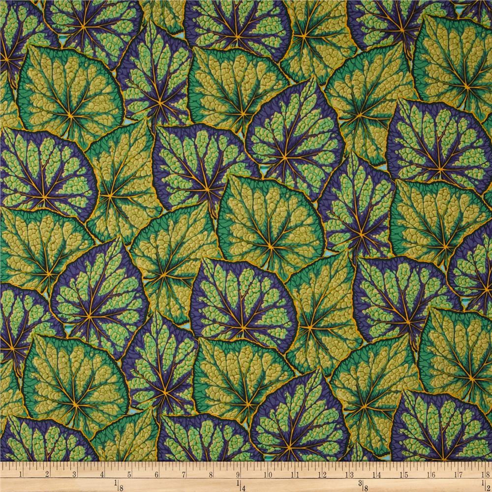 Kaffe Fassett Collective Begonia Leaves Green