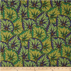Kaffe Fassett Collective Begonia Leaves Green Fabric
