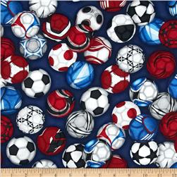 Sports Life 3 Soccer Balls Navy