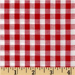 "Richcheck 60"" Gingham Check 1/4"" Red"