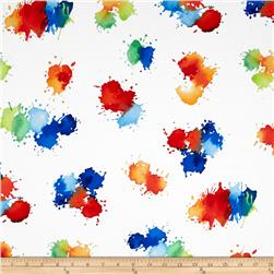 Michael Miller Painterly Color Drops Primary Fabric