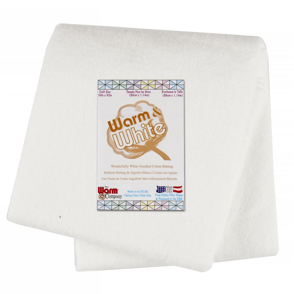 Warm & White Cotton Batting (34'' x 45'')