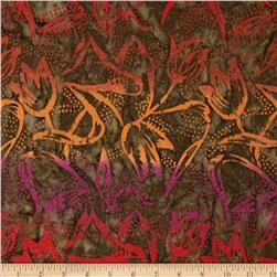 Timeless Treasures Tonga Batiks Firestorm Tulips Firestorm