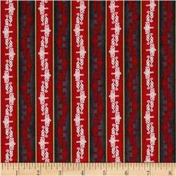 Christmas In Bloom Stripe Red/Black
